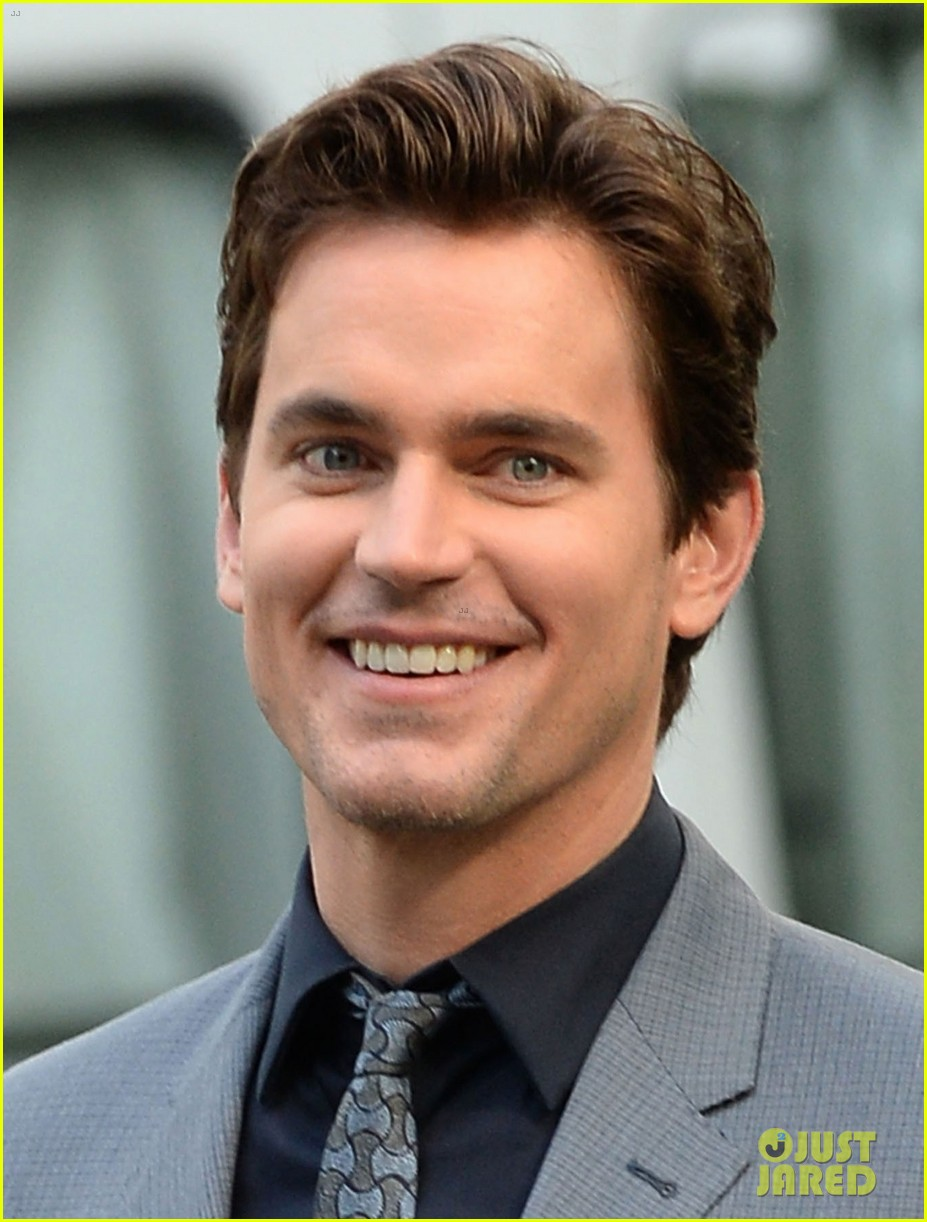 matt bomer beautiful smile lights up white collar set 043147081
