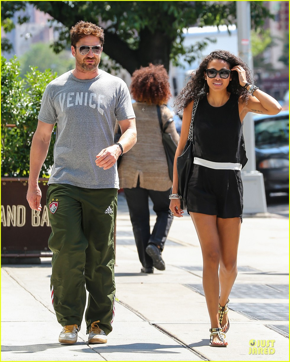 gerard butler venice on stroll with mystery woman 06