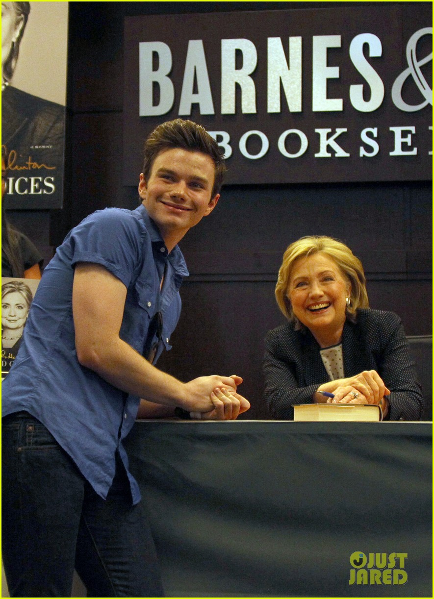 chris colfer hilary clinton book signing 03