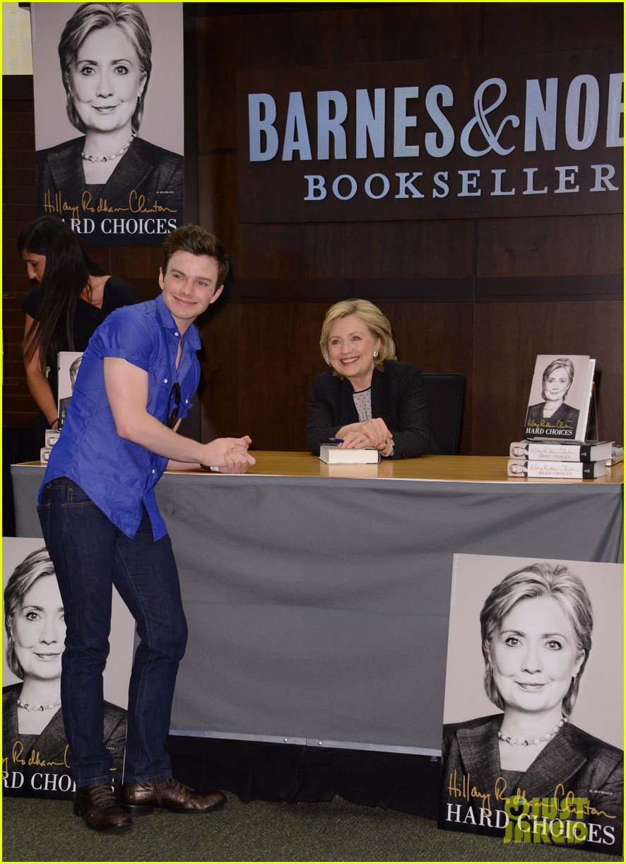 chris colfer hilary clinton book signing 08