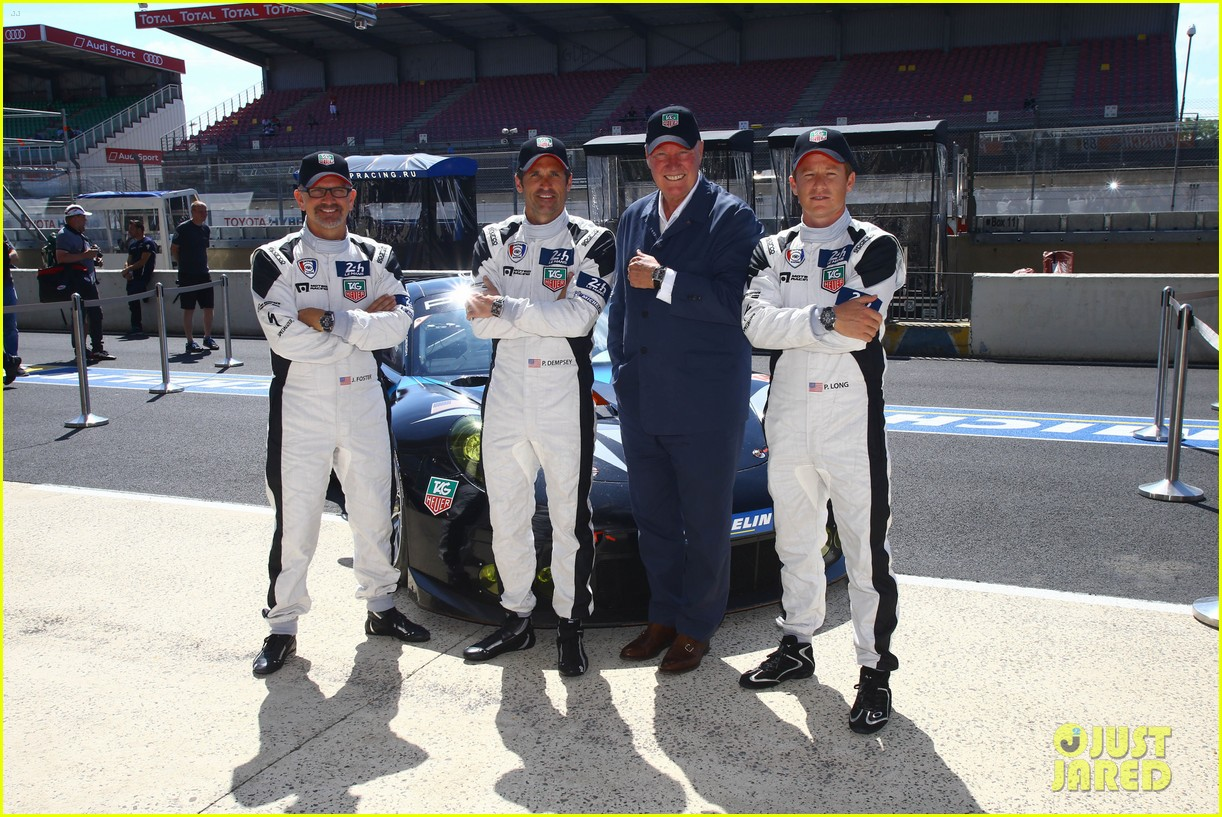 patrick dempsey is back in his racing gear for le mans 05