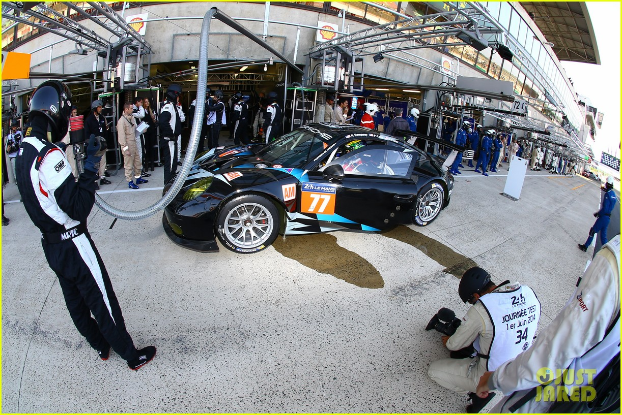 patrick dempsey gets behind the drivers wheel at le mans 113127324