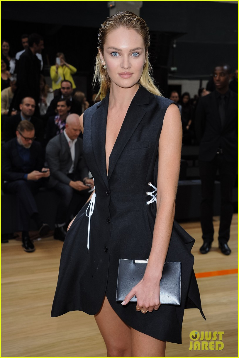 ansel elgort candice swanepoel dior homme show 093145778