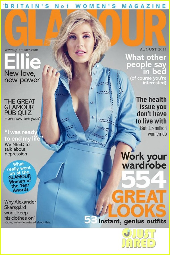 ellie goulding glamour uk august 2014 cover 03