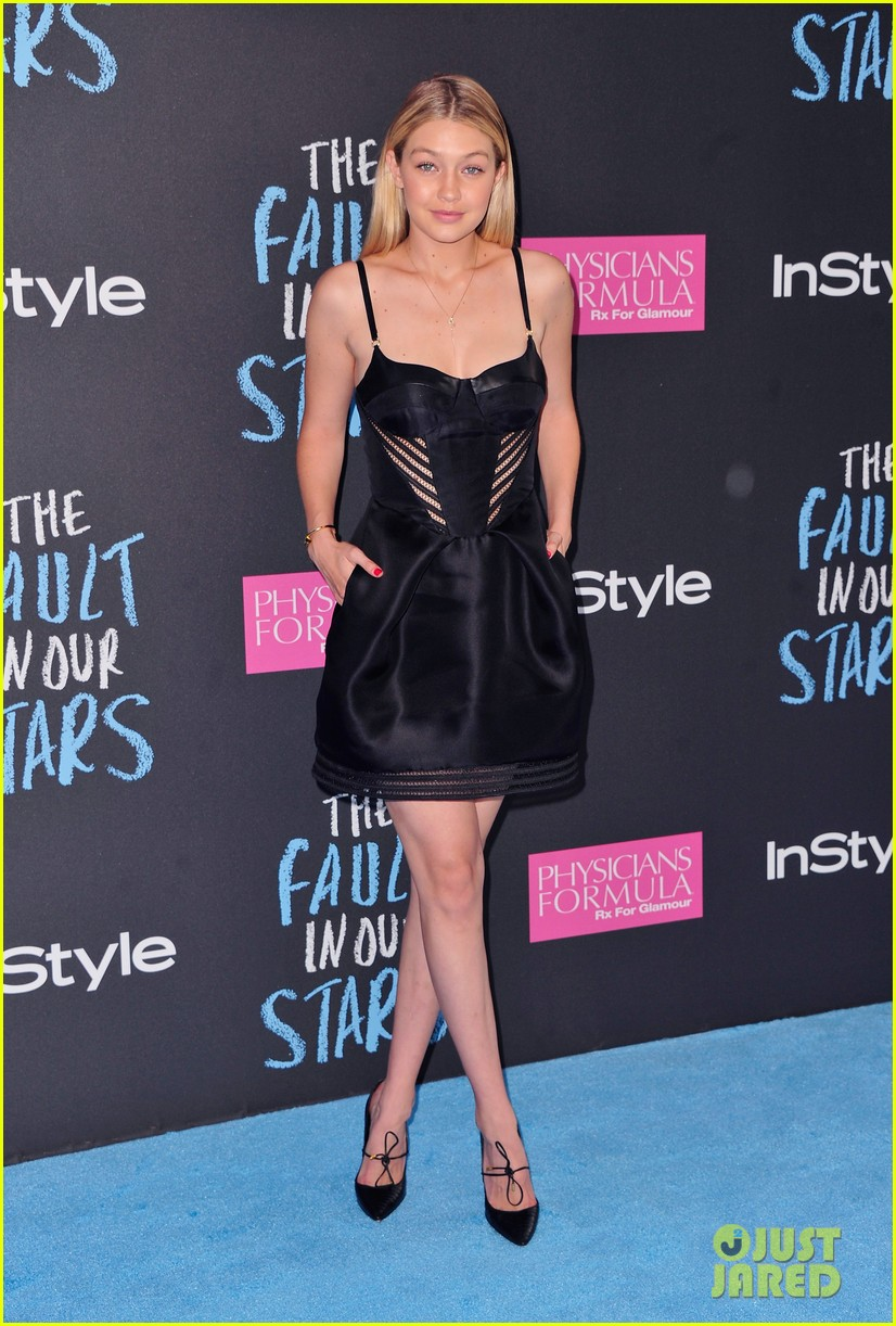 gigi hadid hailey baldwin fault in our stars premiere 013127302