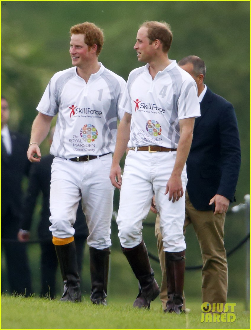 prince harry prince william play in the audi polo challenge 05