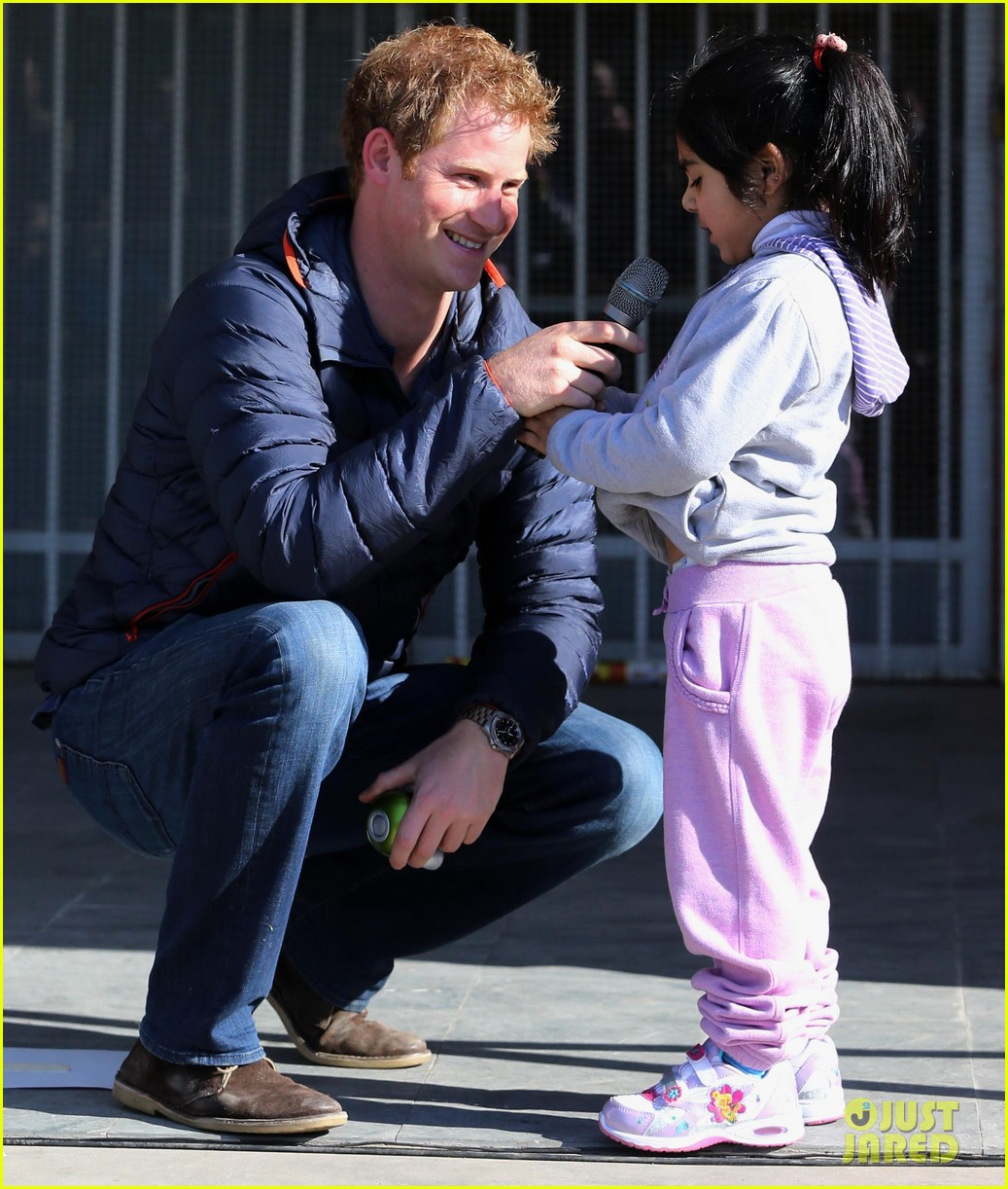 prince harry busts a move children chile visit 10