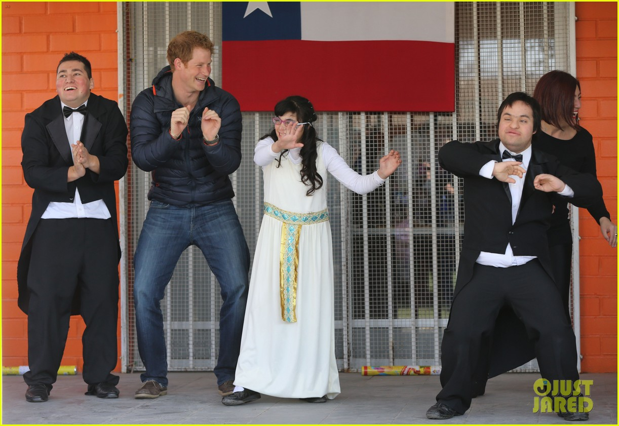 prince harry busts a move children chile visit 11