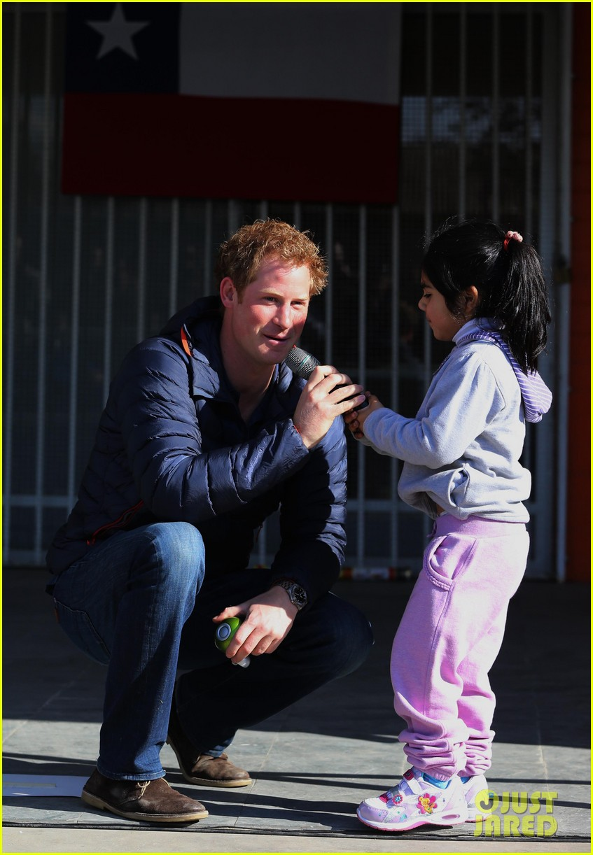 prince harry busts a move children chile visit 15