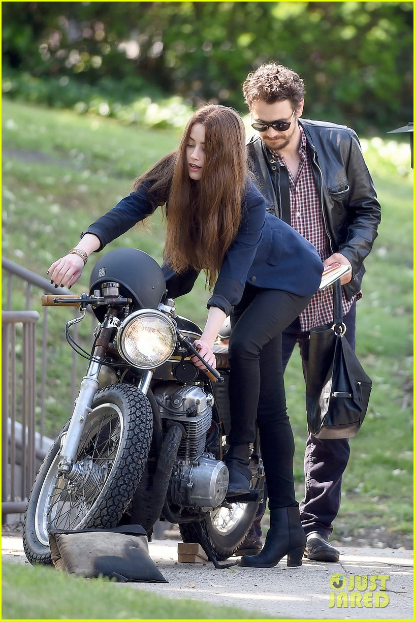 james franco wraps his arms around amber heard for motorcycle ride 26