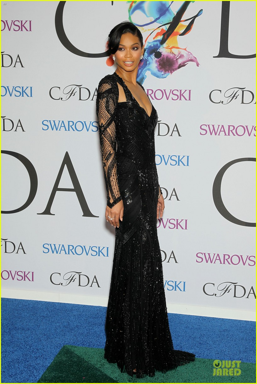 chanel iman joan smalls cfda awards 2014 08