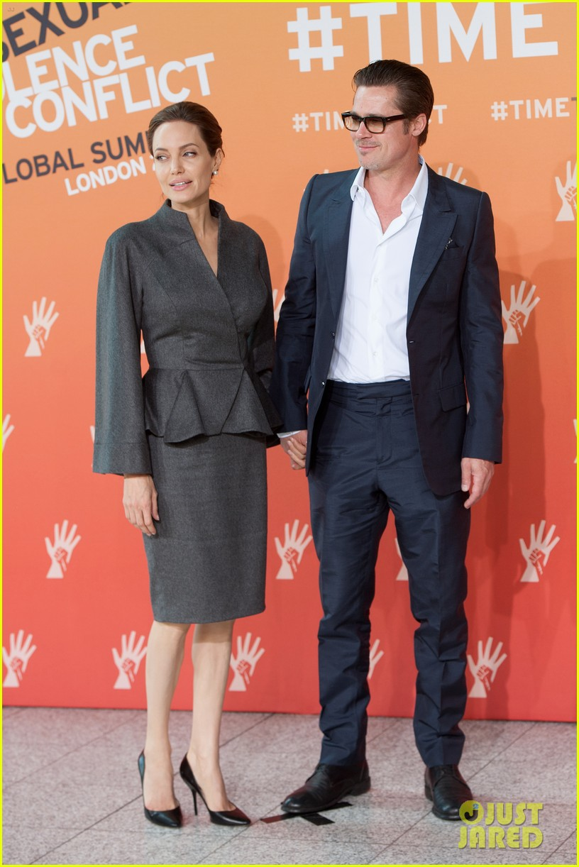 angelina jolie brad pitt keep hand in hand at the global summit end sexual violence 03