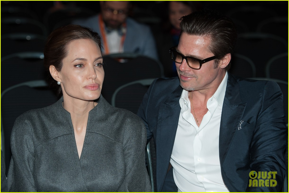 angelina jolie brad pitt keep hand in hand at the global summit end sexual violence 203134598