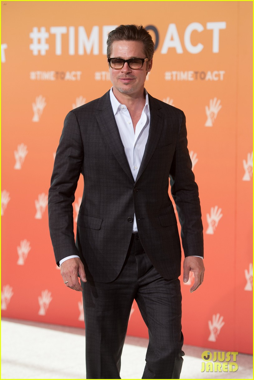brad pitt supports wife angelina jolie at day three of global summit 073133781