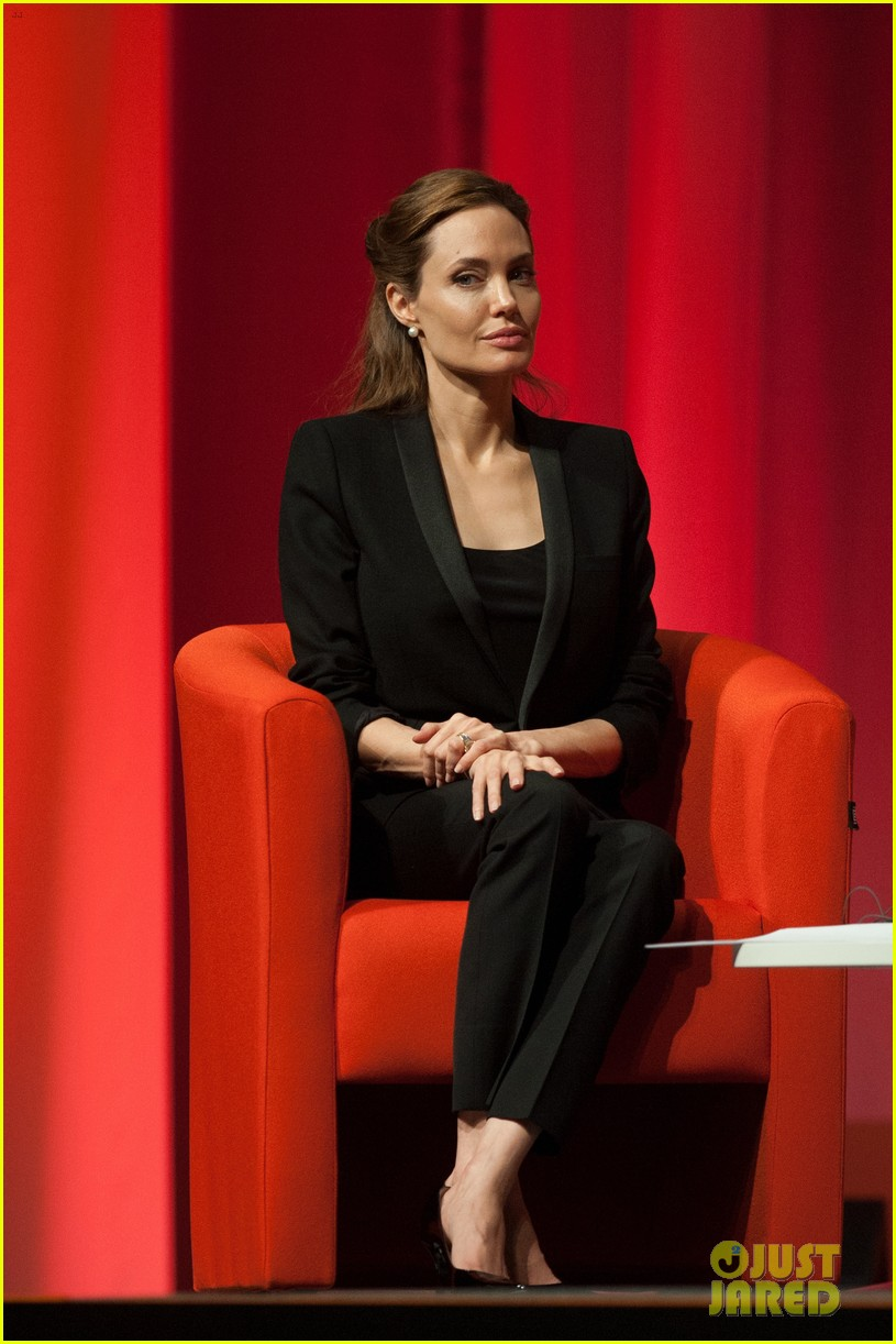 brad pitt supports wife angelina jolie at day three of global summit 15