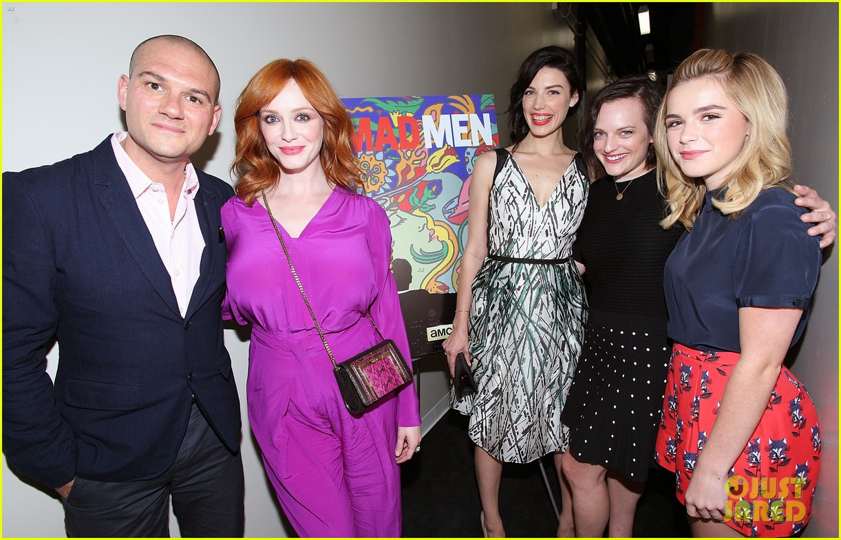january jones christina hendricks join cast of mad men at deadline screening 15