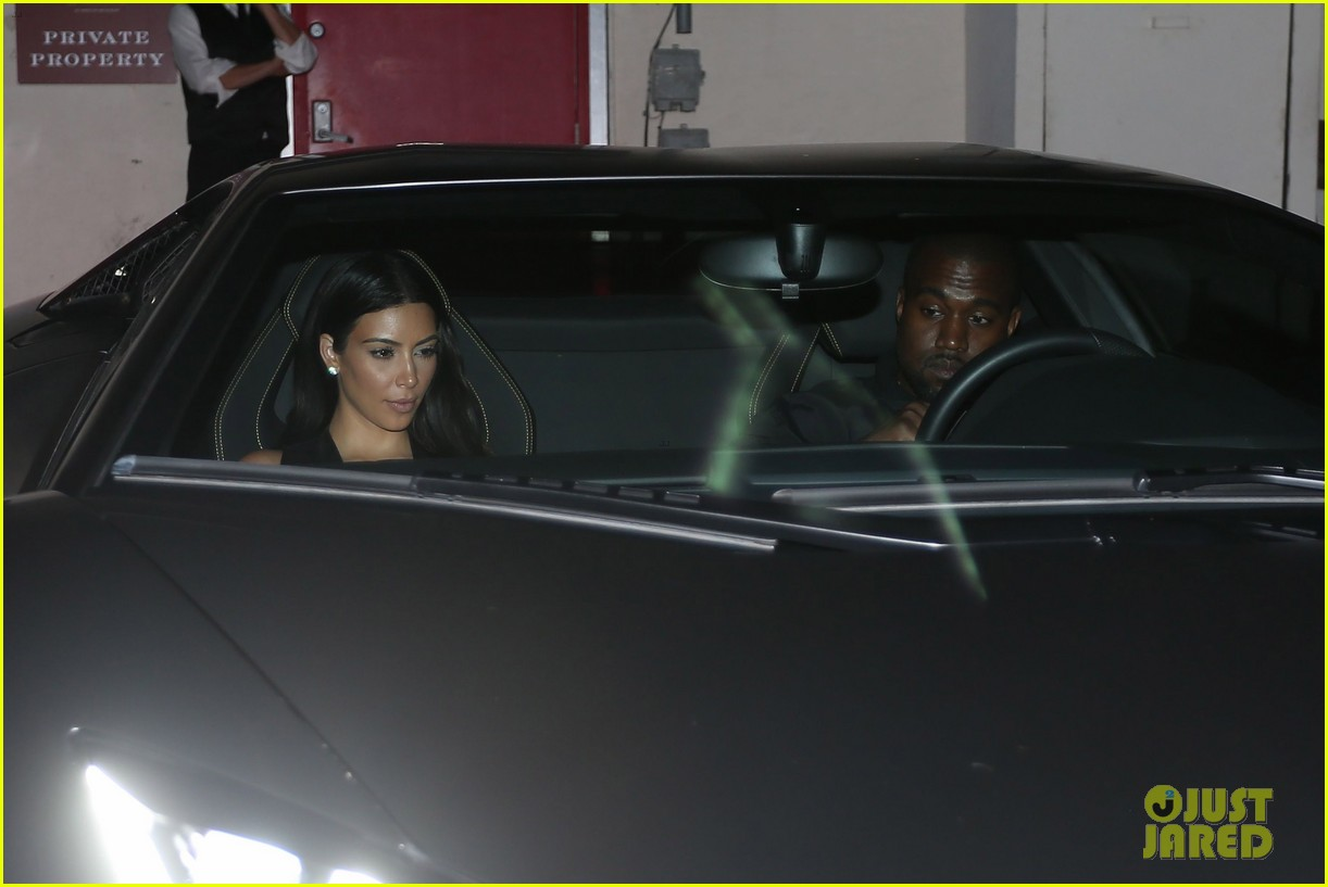 kim kardashian kanye west step out for dinner at craigs 08