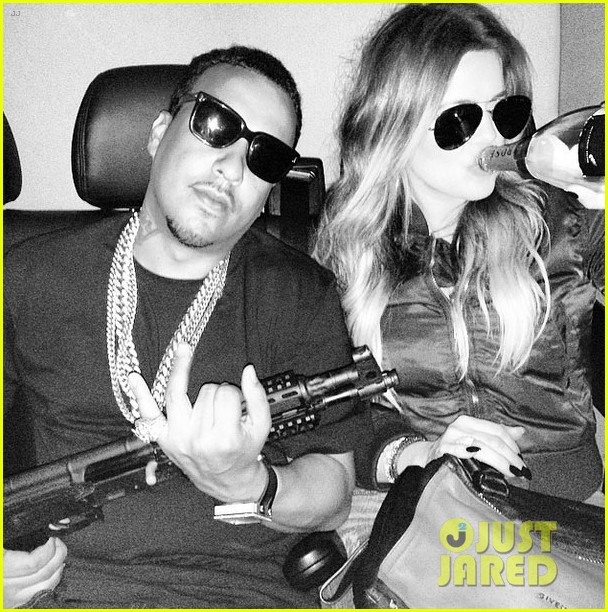 khloe kardashian under fire gun photo on instagram 03