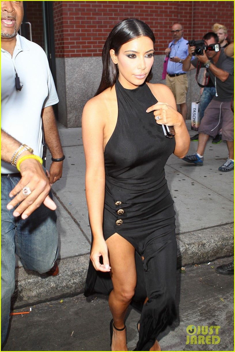 kim kardashian shows off legs for days sexy slit dress 123144309