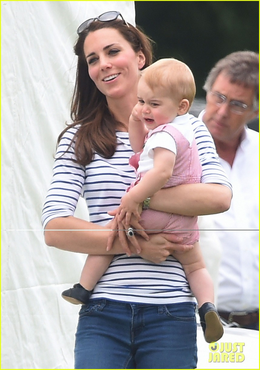 kate middleton prince george william polo match 10
