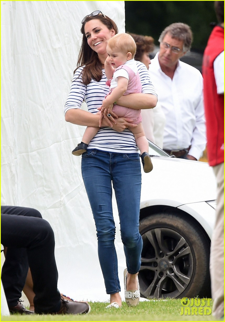 kate middleton prince george william polo match 14