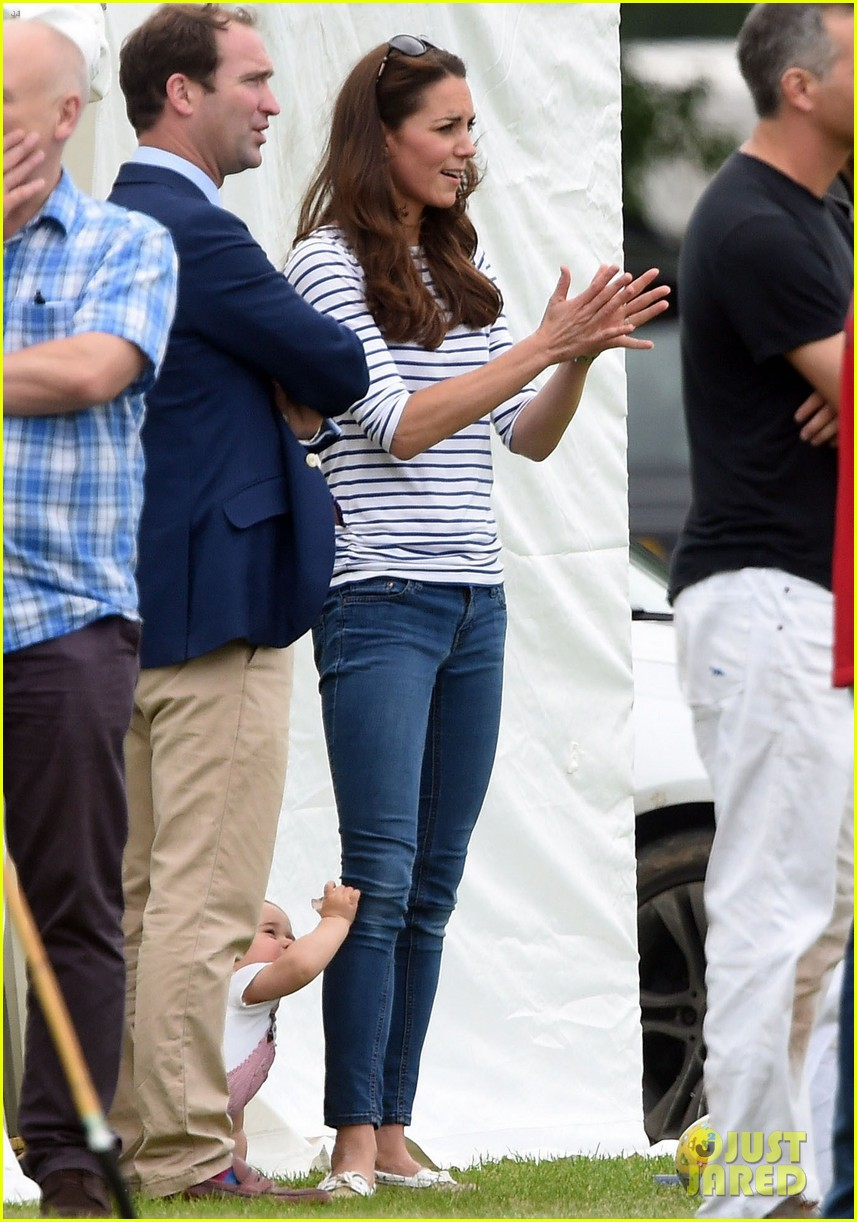 kate middleton prince george william polo match 49