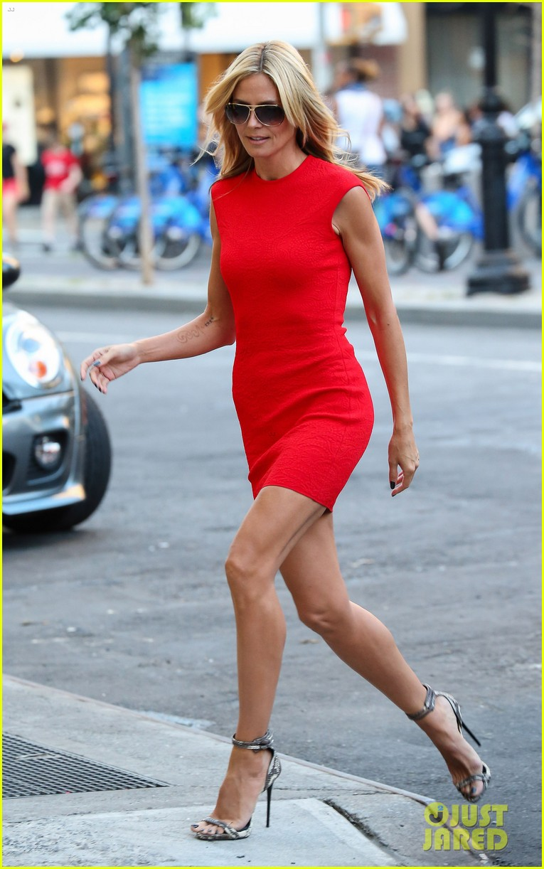 heidi klum is red hot in soho before america's got talent 023142998