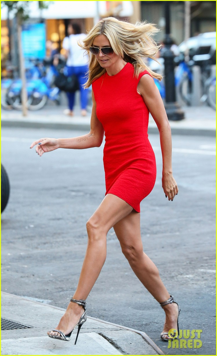 heidi klum is red hot in soho before america's got talent 043143000