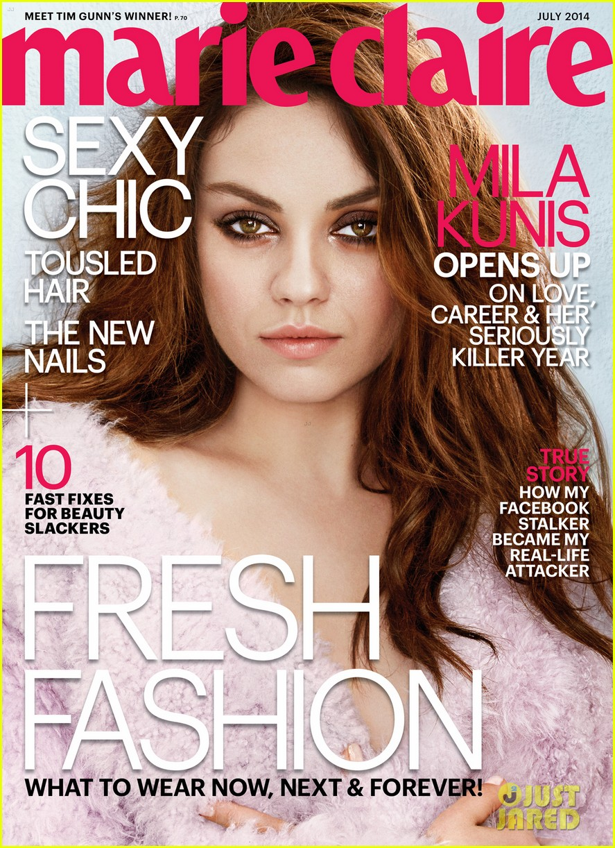 mila kunis marie claire july 2014 cover 01