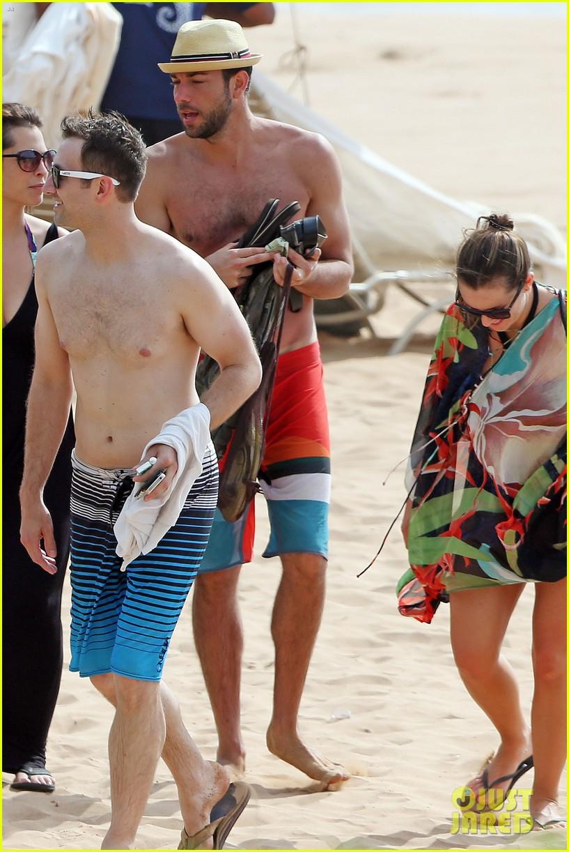 zachary levi shirtless hawaii beach vacation 183134959