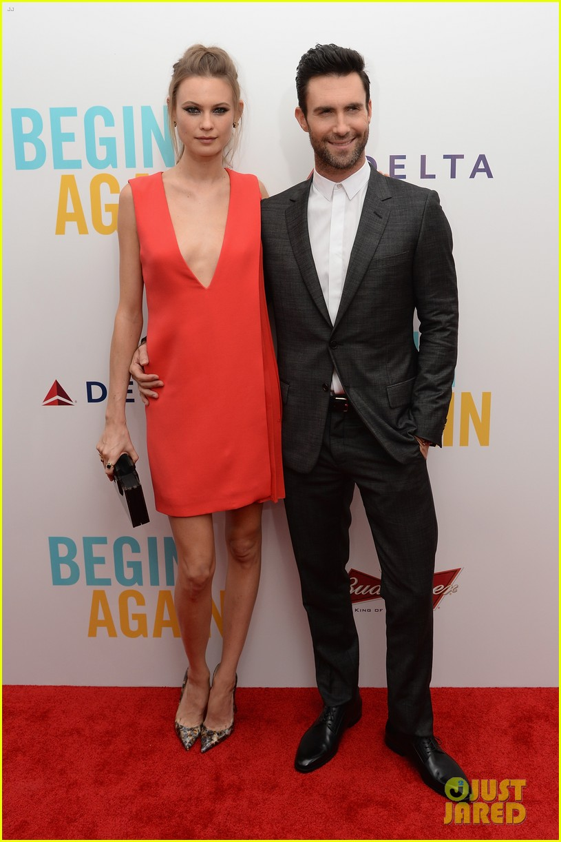 adam levine behati prinsloo begin again new york premiere 073143447