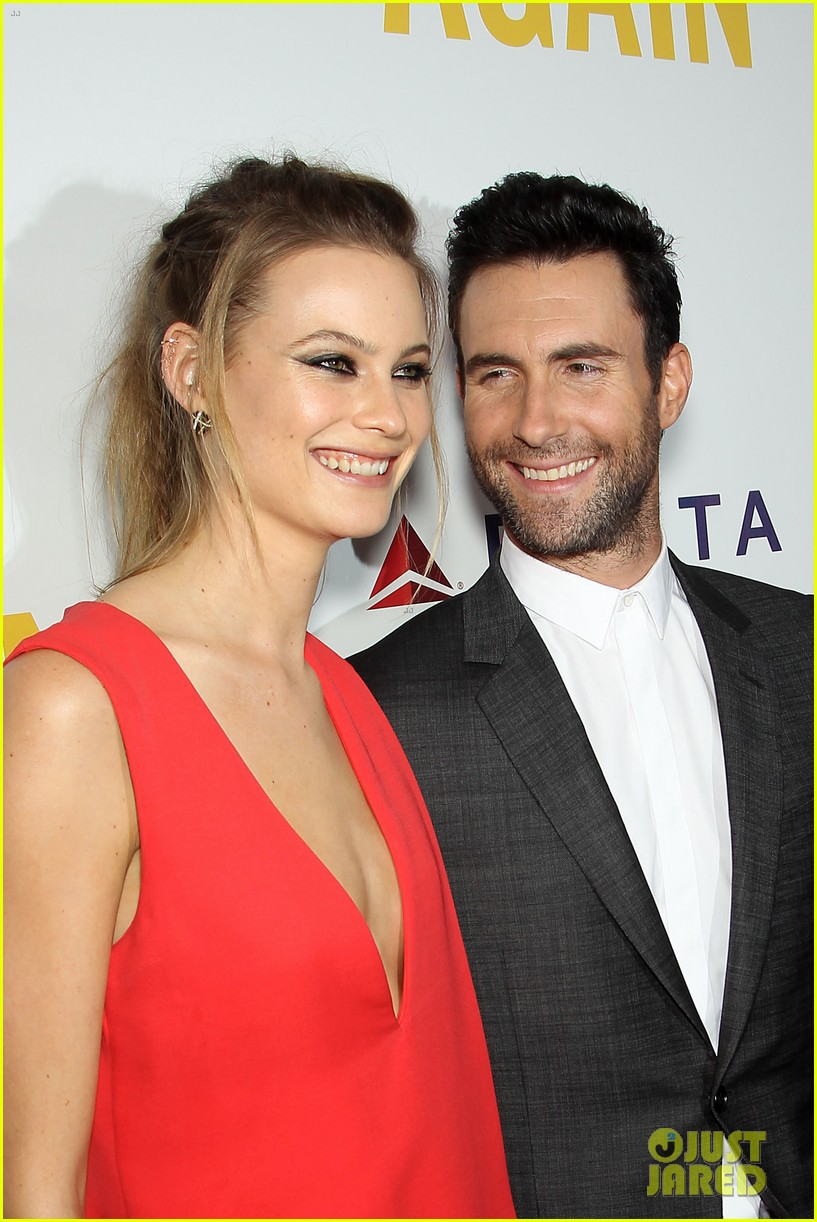 adam levine behati prinsloo begin again new york premiere 11