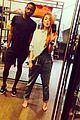 lindsay lohan does duckface selfie in trendy overalls 05