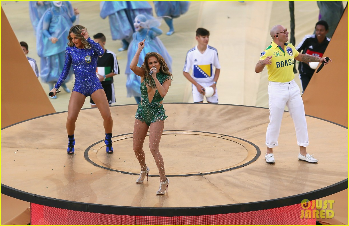 jennifer lopez performs at world cup 2014 opening ceremony with pitbull claudia leitte 053134063