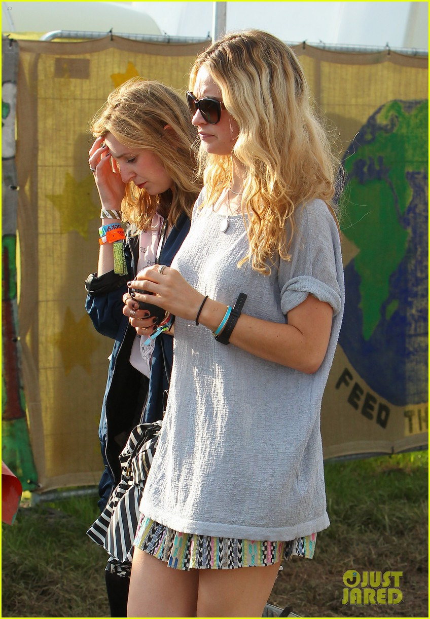 matt smith lily james attend glastonbury festival 02