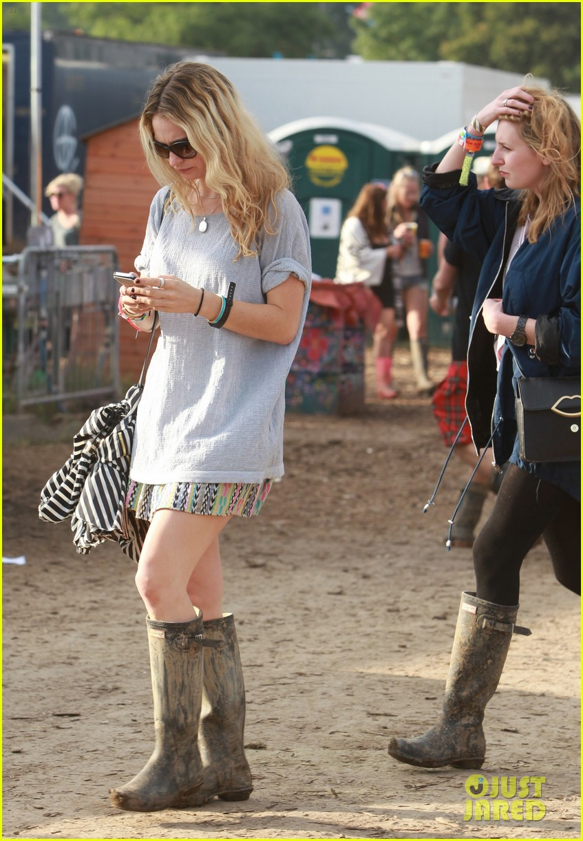 matt smith lily james attend glastonbury festival 173146881