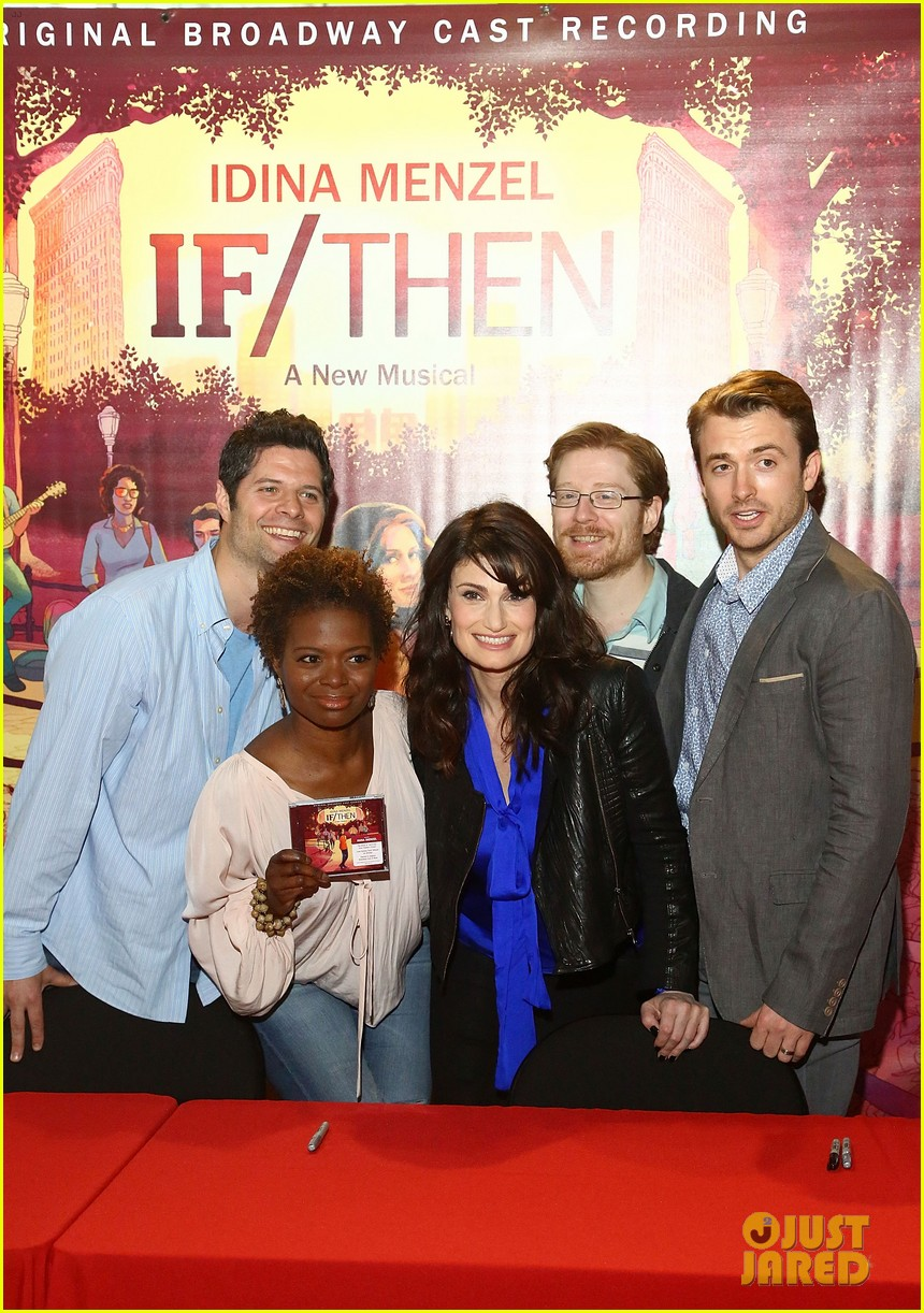 idina menzel debuts new bangs at if then cd signing 02