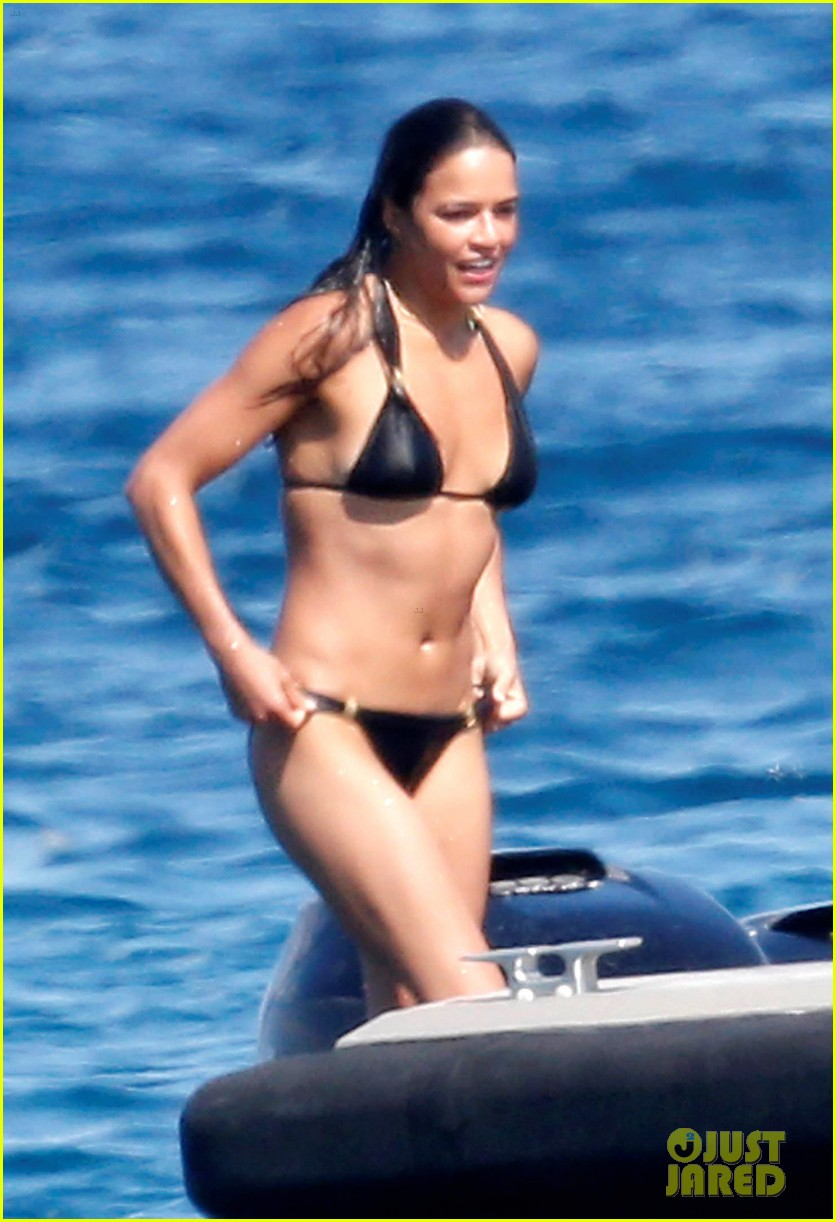 michelle rodriguez soaks up sun in bikini 093144800