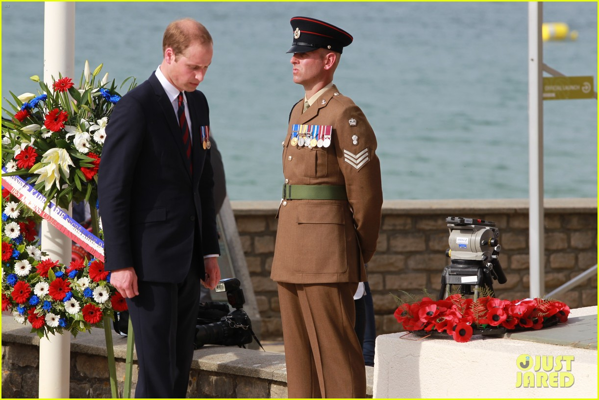 kate middleton prince william pay respects at d day 70th anniversary 26