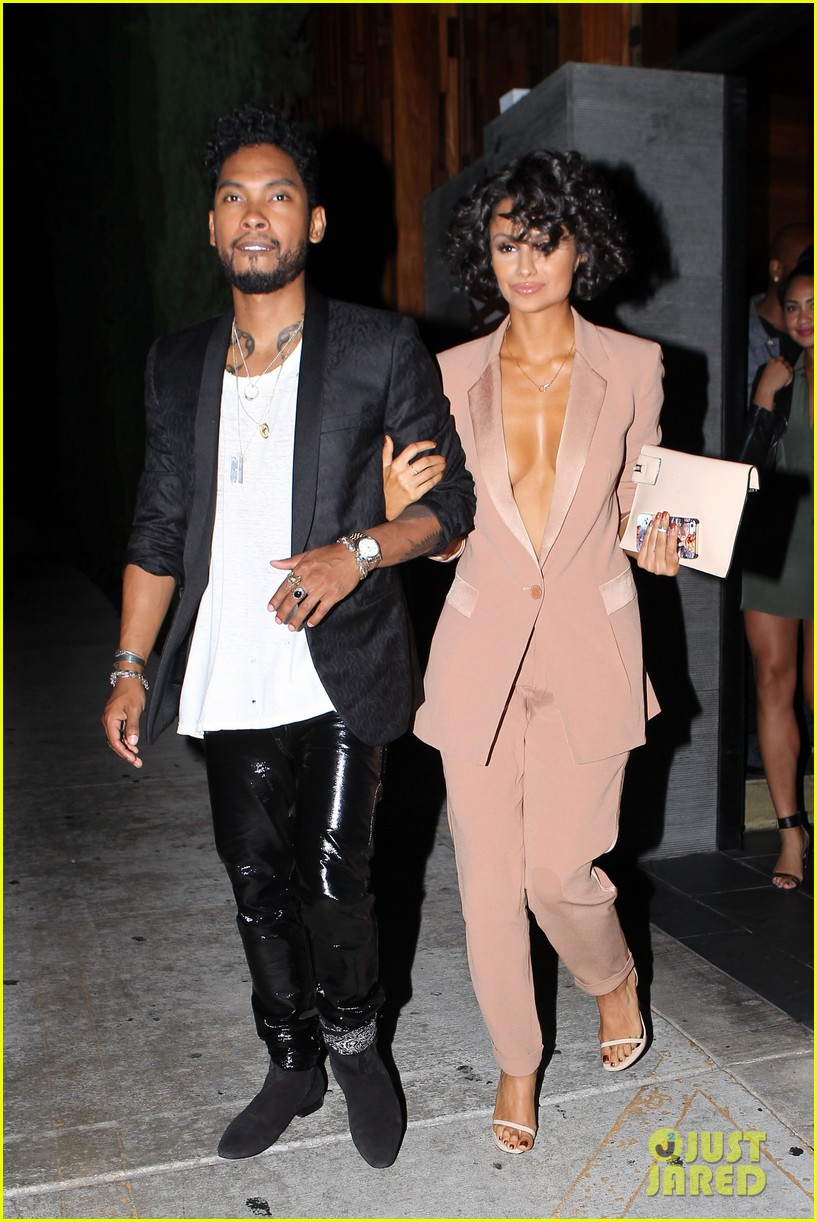 miguel girlfriend nazanin mandi stakes claim to his crotch 063147040