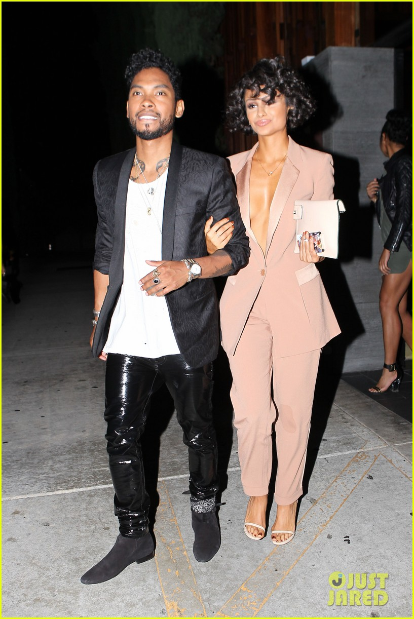 miguel girlfriend nazanin mandi stakes claim to his crotch 103147044
