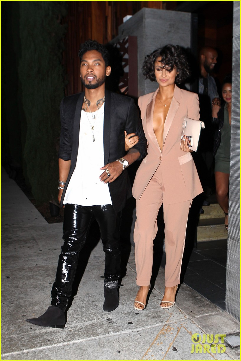 miguel girlfriend nazanin mandi stakes claim to his crotch 11