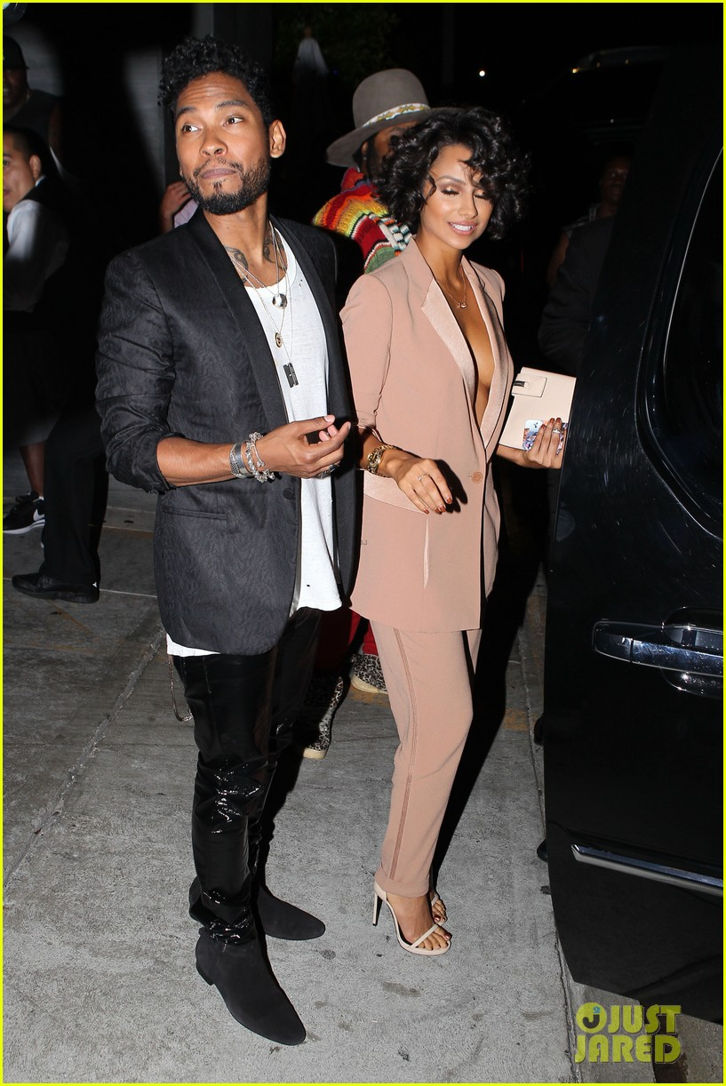 miguel girlfriend nazanin mandi stakes claim to his crotch 15