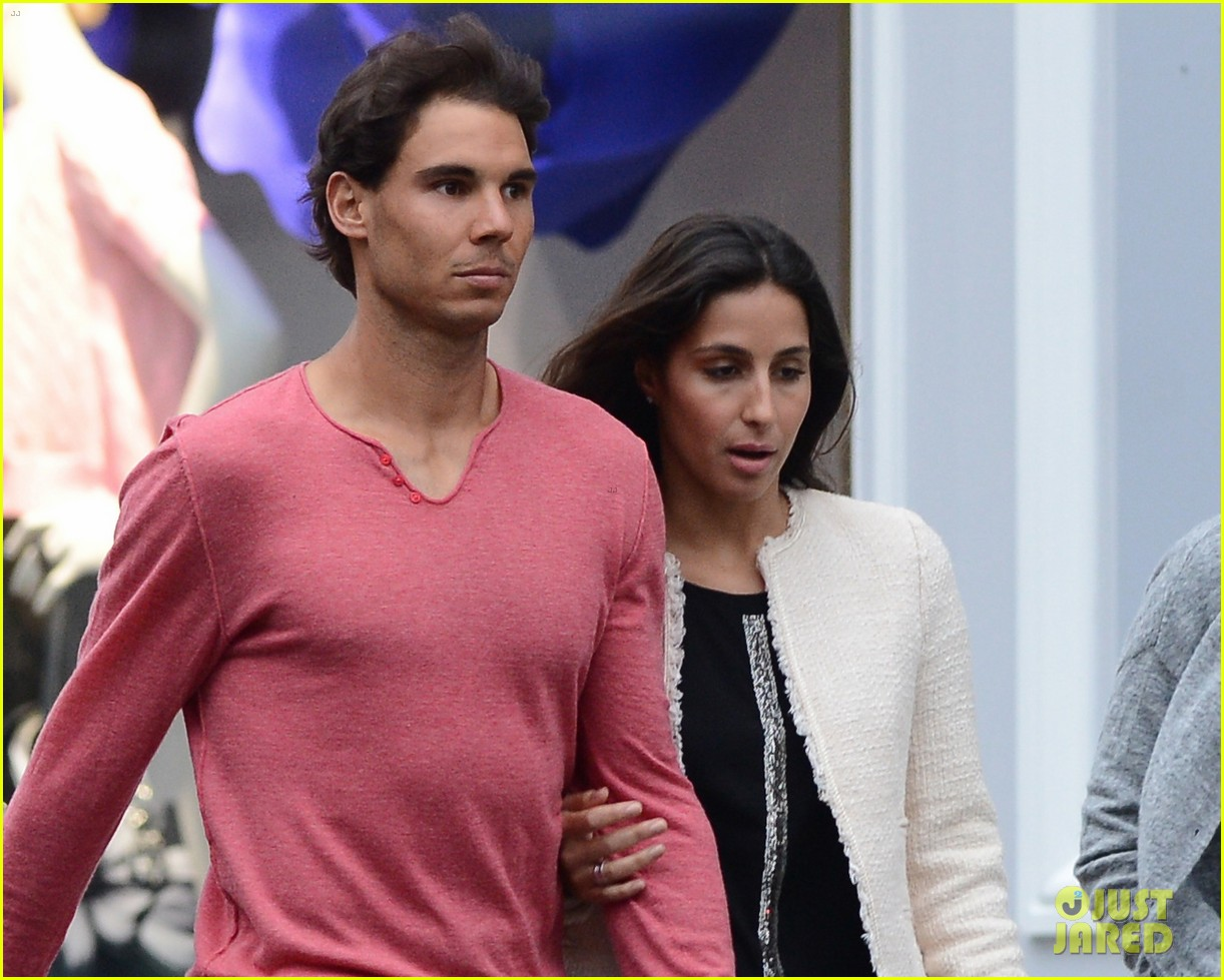 rafael nadal goes shirtless at french open strolls wih xisca perello 083126522