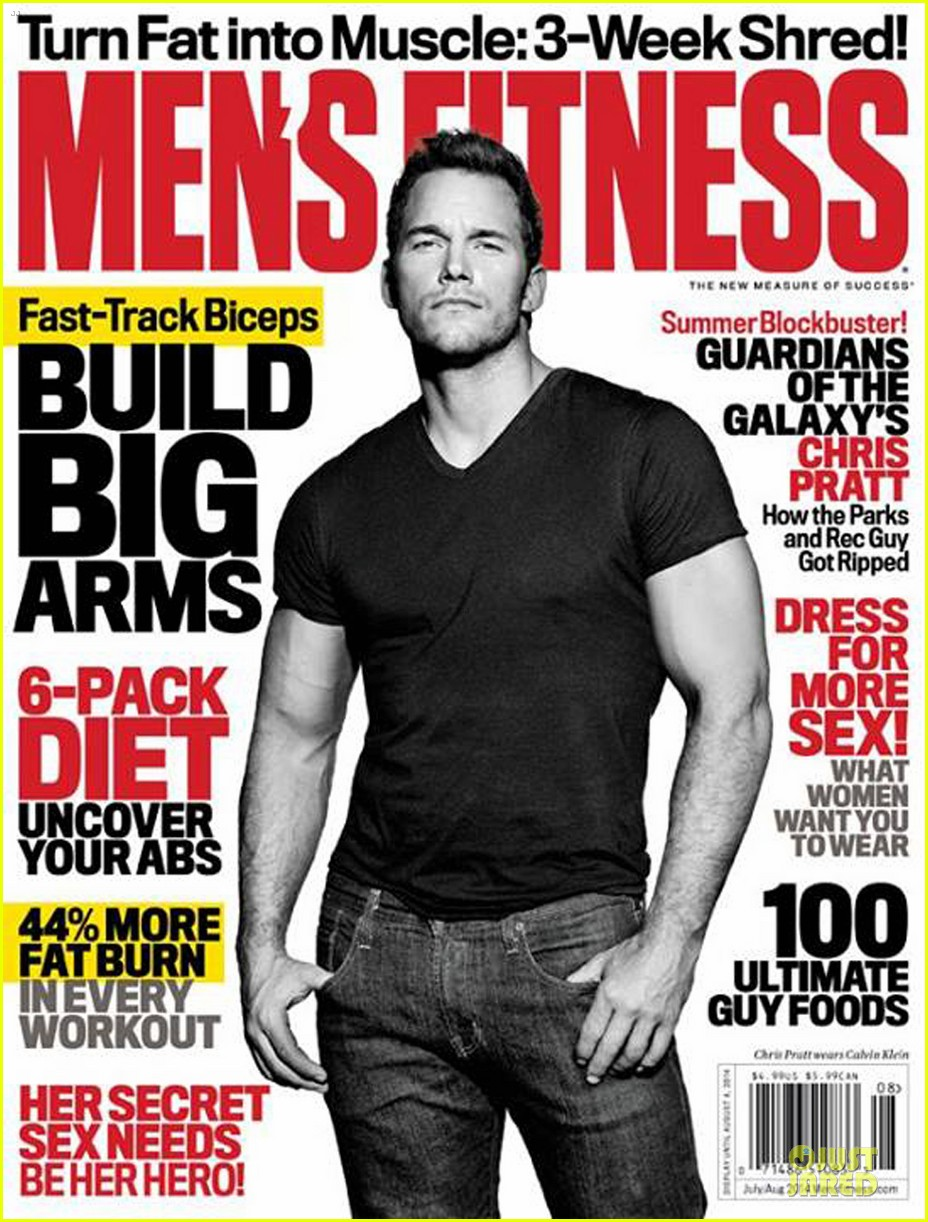 chris pratt buff on mens fitness cover 053146589