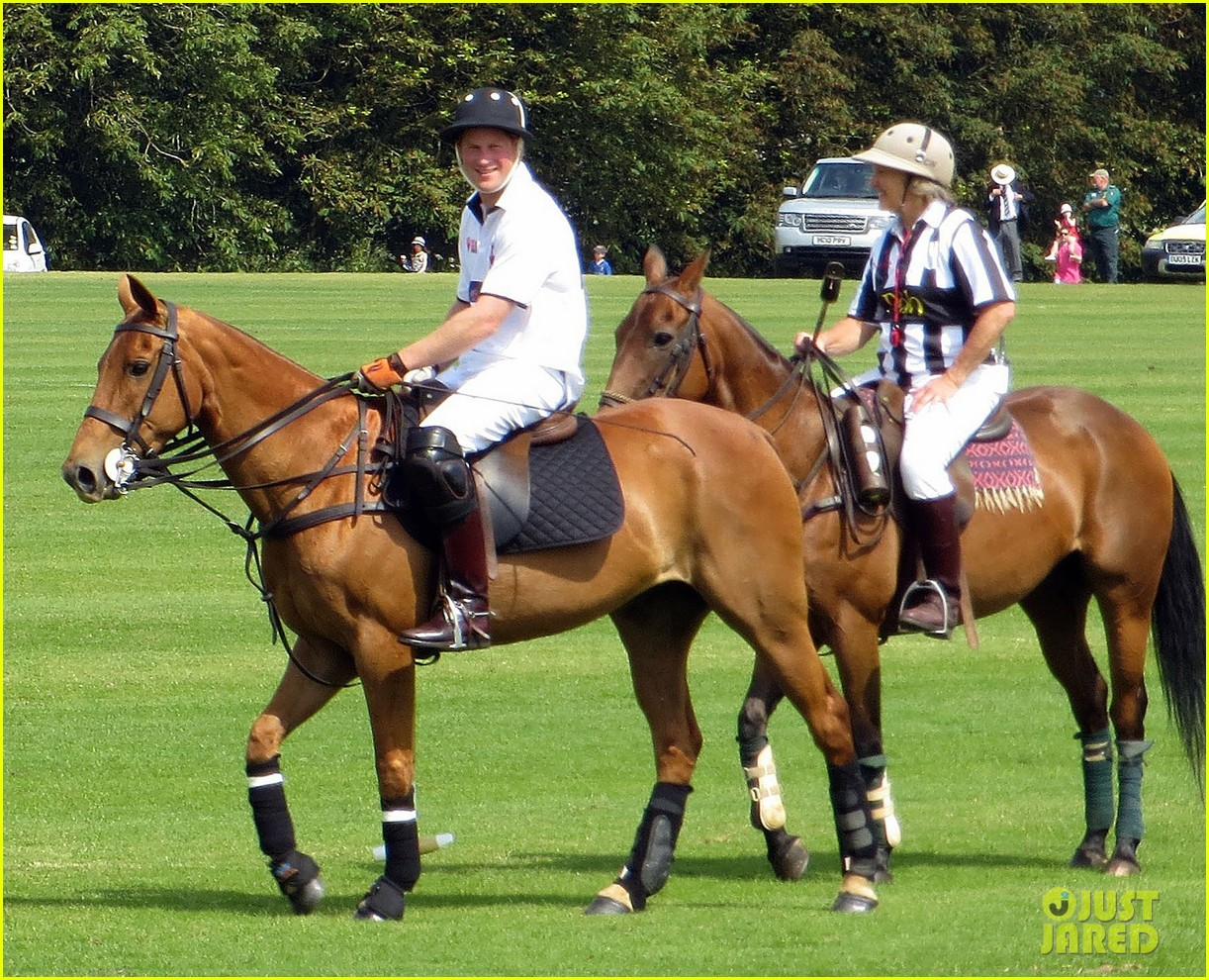 prince harry prince william make it a royal affair at polo match 09