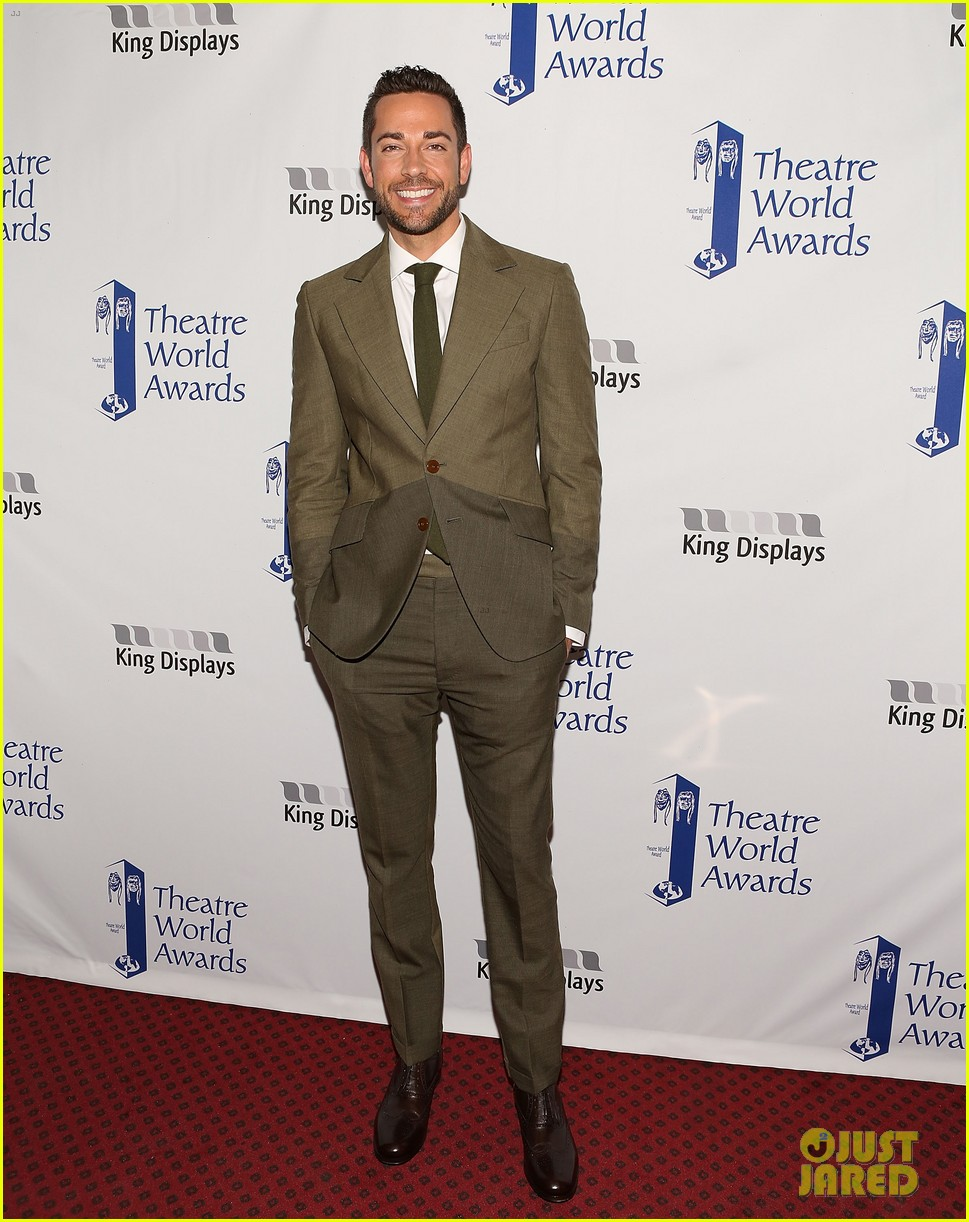 zachary quinto steps out to present at theatre world awards 01
