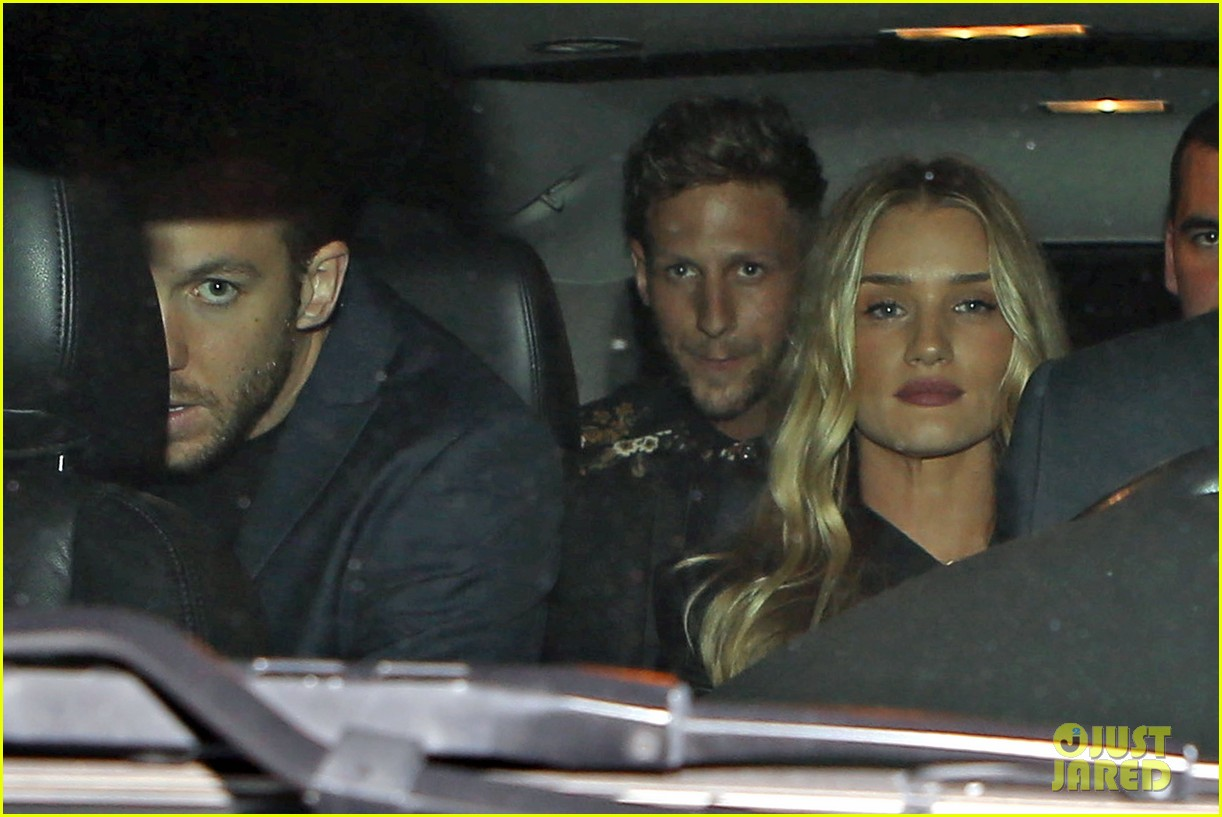 rosie huntington whiteley calvin harris have dinner together 12