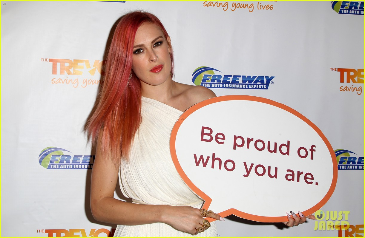 rumer willis performs trevor project prom 2014 03