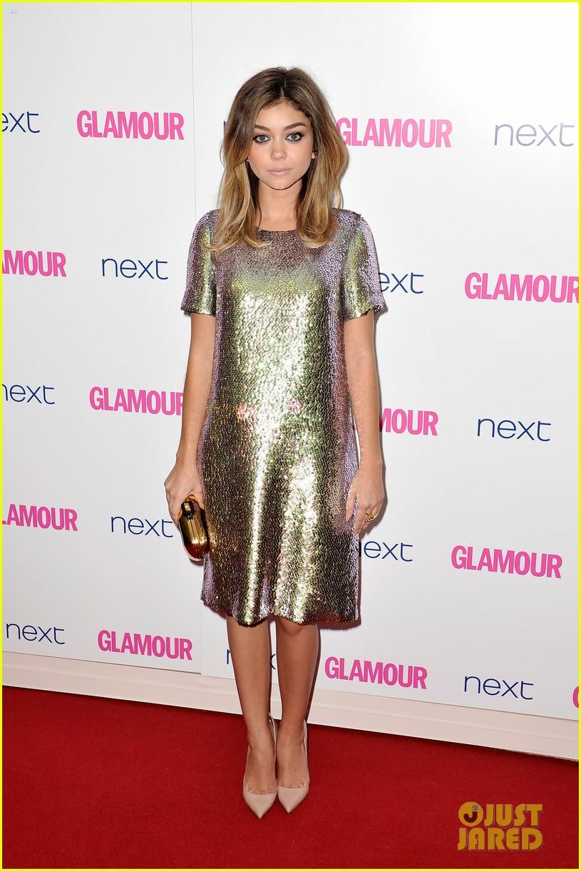 sarah hyland lily james glamour awards 03
